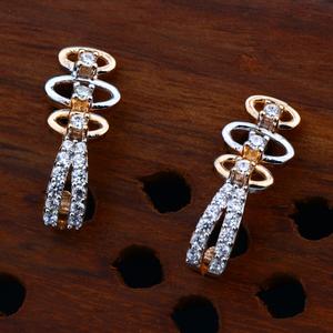 18kt cz rose gold modern earring for women