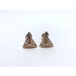 18k exclusive fancy rose gold earring e-60510