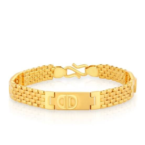 22kt indian design yellow gold bracelet for m