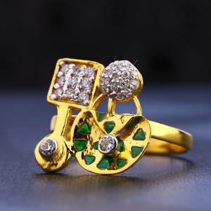 916 gold hallmark delicate women's ring lr647