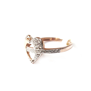 18k rose gold heart shape ring mga - rgr0012