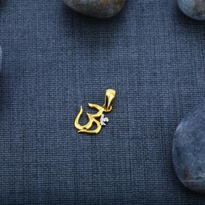 Mens 22k om god gold pendant-gp03