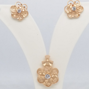 925 sterling silver rose gold pendant top set
