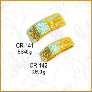 916 gold designer cz diamond couple ring cr-1