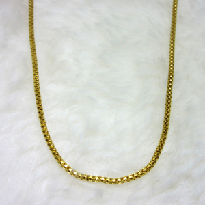 Gold box round chain