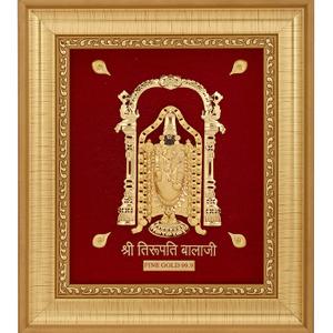 Tirupati balaji 999 gold frame