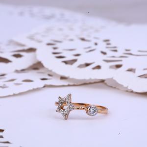 Delicate 18k rose gold ladies ring-rlr293