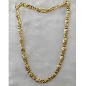 916 antique gold lion design gents chain