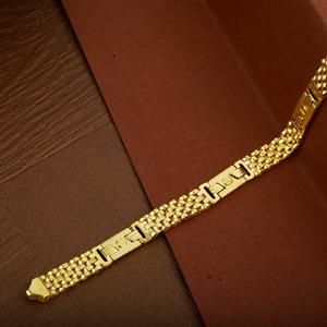 Mens 916 gold designer plain cz cartier brace