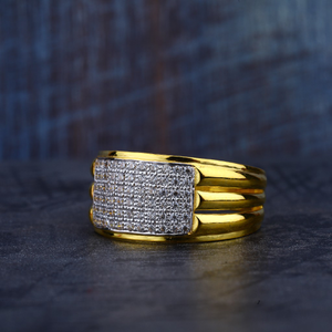 Gold cz mens ring-mr184
