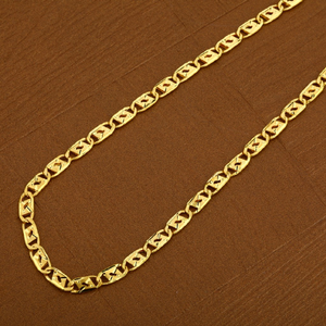 Mens 916 nawabi gold plain cz chain-mnc11