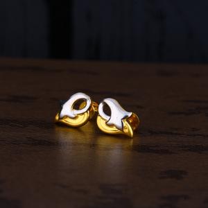 Ladies 916 rodium cz earring -lpe141