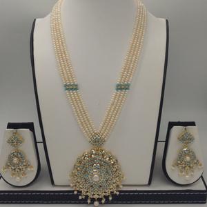 Turquoiseand pearls exclusive rani haarse