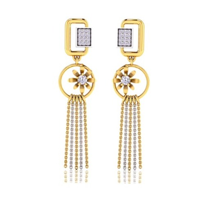 916 gold cz classic earring so-e007