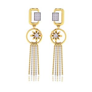 916 gold cz classic earring so-e007