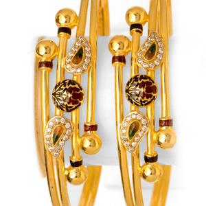 22kt gold designer ball pipe copper kadali bo