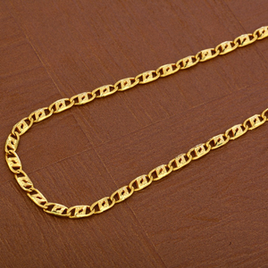 Mens nawabi gold plain chain-mnc36