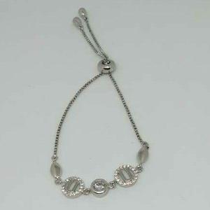 92.5 sterling silver modern ladies bracelet