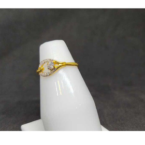 22k ladies single stone ring