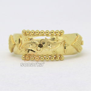 22kt 916 yellow gold ladies ring indian class