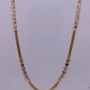 22kt gold fancy chain for women