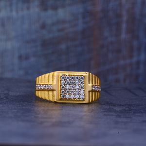 Mens casting gold diamond 916 ring-mr385