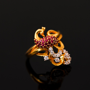 22k ladies classic ring