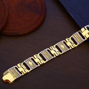 Mens gold bracelet-mpb102