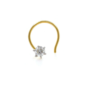 18kt / 750 yellow gold classic single 0.09 ct