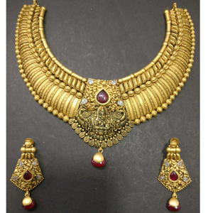 916 gold traditional bridal necklace set kg-n