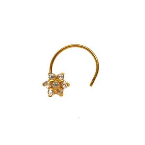 18k gold modern nosepin mga - gn003
