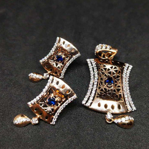 18k rose gold pendant set
