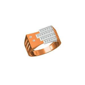 18kt fancy cz men's wear rose gold ring-31331