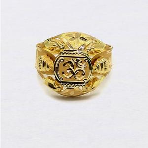 Aum design nazrana gold ring