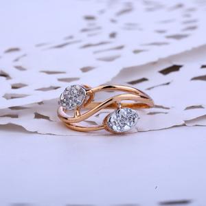 Ladies rose gold designer ring-rlr51