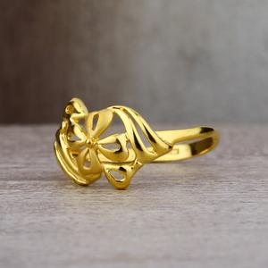 Ladies 22k gold plain designer fancy ring -lp