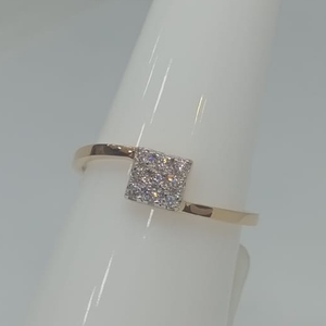 916 gold cz delicate ring jh-r04