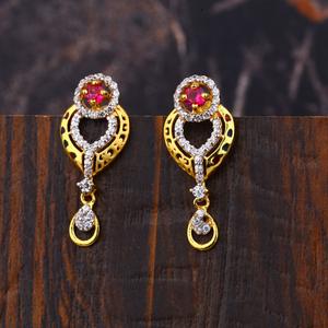Ladies 22k gold earrings -lfe181