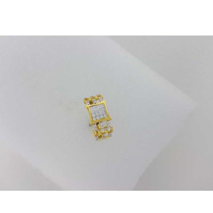 22kt yellow gold cz gents ring