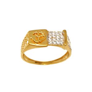 22k gold designer om gents ring mga - grg0207