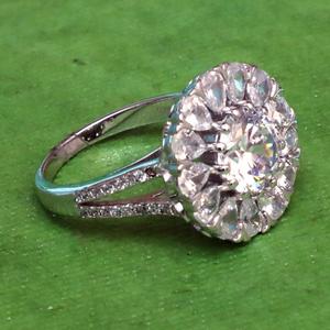 925 silver fancy diamond ring for women pj-r0