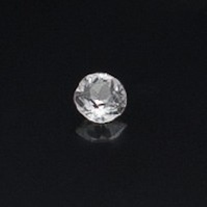 1.070ct round white sapphire