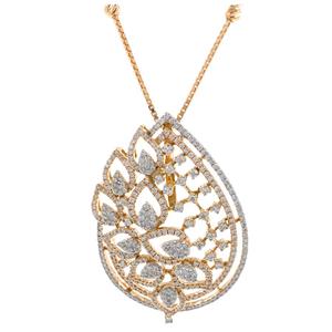 Geweldig diamond pendant in 18k rose gold 9sh