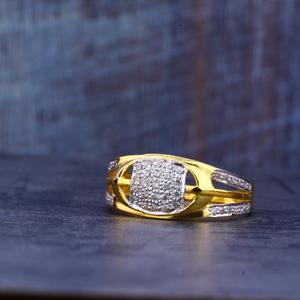 Mens gold ring-mr398