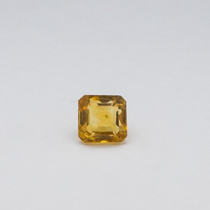 8468ct asscher orange topaz