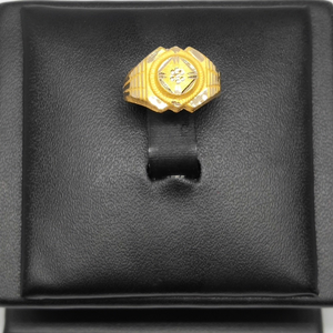 18kt gold attractive gents ring dj-r004