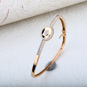 Rose gold designer ladies kada bracelet-rlkb4