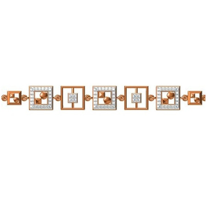 916 cz rose gold diamond bracelet
