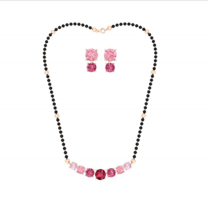 916 gold fancy colorful stone mangalsutra pj-