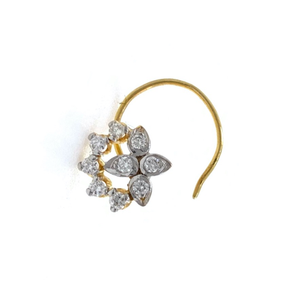 18kt / 750 yellow gold fancy nose pin in diam